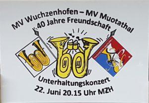 40 Jahre Freundschaft MV Wuchzenhofen – MV Muotathal